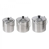 3 Piece Aluminium Billy Can Set by Companion