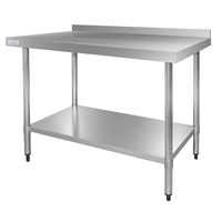 1800mm Stainless Steel Table with Upstand