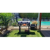 Flaming Coals Texas Offset Smoker and Grill -2 year warranty