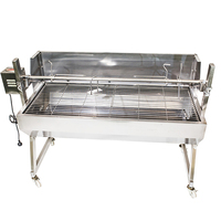 Flaming Coals Spartan Windshield Stainless Steel Spit Rotisserie -1500mm