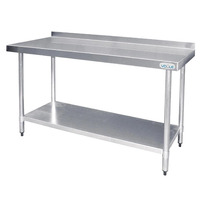 1200mm Stainless Steel Prep Table with Upstand